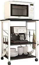 soges 3-Tier Kitchen Baker's Rack Utility Microwave Oven Stand Storage Cart Workstation Shelf, Black W4-BK-N