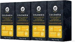 Happy Belly Select - Café Colombien Torréfié et Moulu en Capsules Compatibles Nespresso - 80 Capsules (4 Paquets x 20)