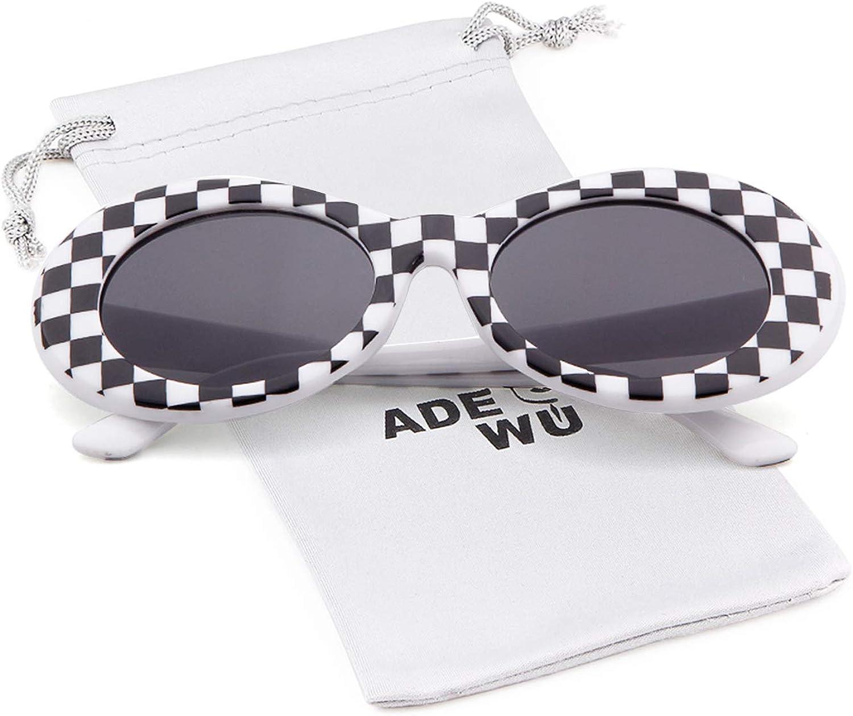 ADEWU Clout Goggles, Lunettes de Soleil Ovales Grid
