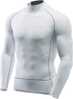 (テスラ)TESLA 長袖 ハイネック スポーツシャツ [UVカット・吸汗速乾] コンプレッションウェア パワーストレッチ アンダーウェア MUT72