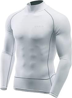 Tesla Men's Long Sleeve Mock Neck T-Shirt Baselayer Cool Dry Compression Top