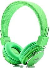 سماعات بلوتوث مشغل ام بي 3 للكمبيوتر، اللابتوب والهواتف الذكية - اخضر