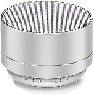 HONGTAI Bluetooth Speaker Mini Bluetooth Audio Metal Subwoofer Wireless Card Cannon Mobile Phone Audio Game Audio (Color : White)