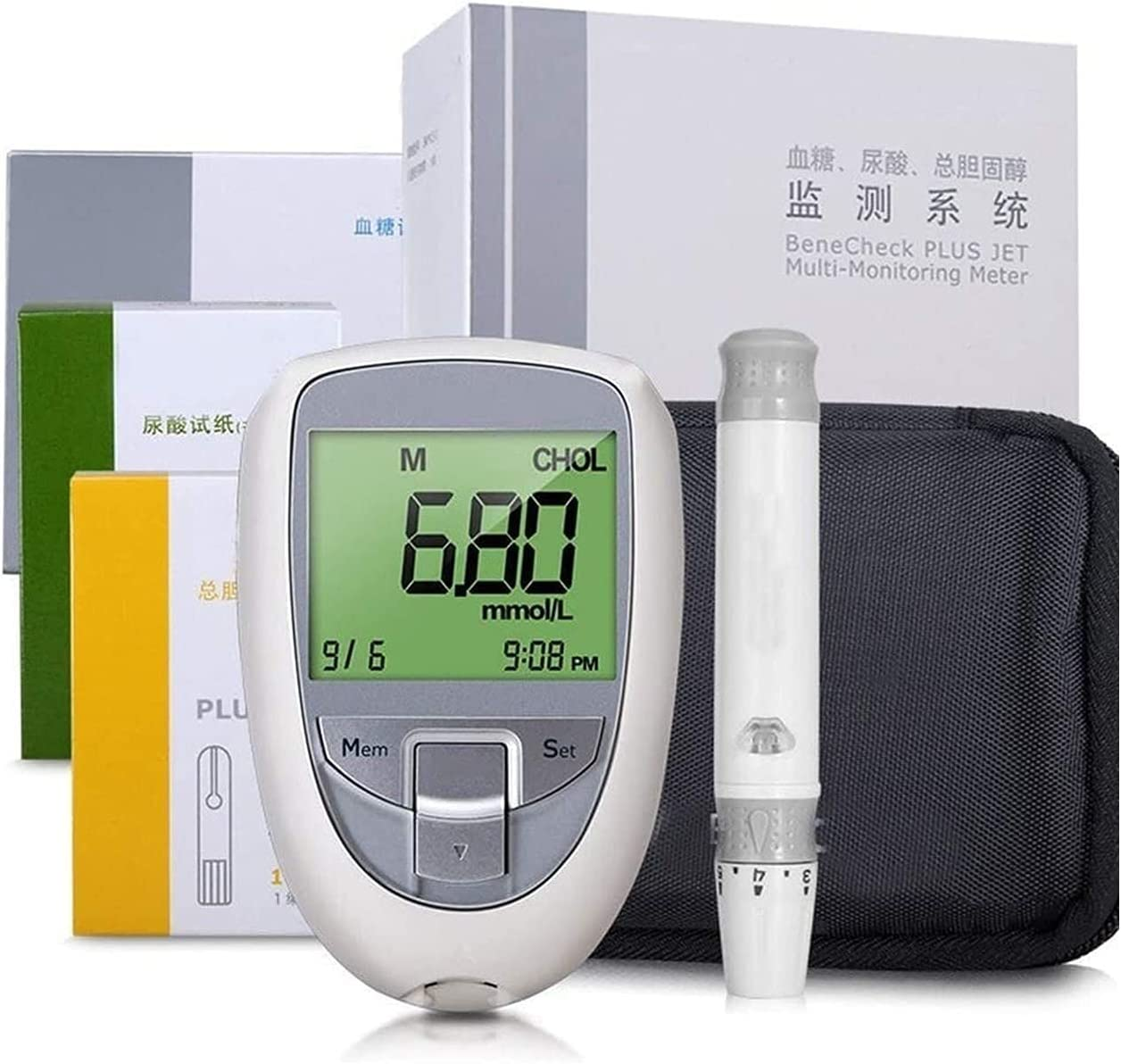 HTTDD 3 Directly managed store in 1 Blood Glucose uric Aci Meter Bargain sale Multifunctional 3-in-1