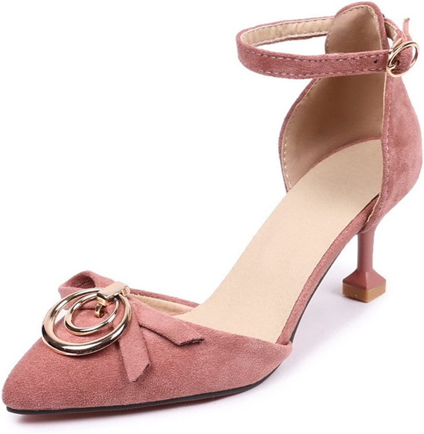 Women's Summer Sandals Fashion Stiletto Heel Toe Ankle High Heels Pumps Large Size Party shoes Large Size 34-43