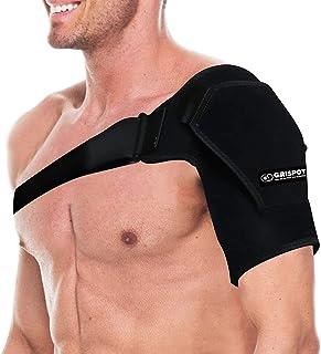 مهاربند پایداری شانه GRISPOT برای زنان و مردان ، قابل تنظیم آستین مناسب. تسکین دهنده آسیب های شانه ، درد شانه. (اندازه منظم)