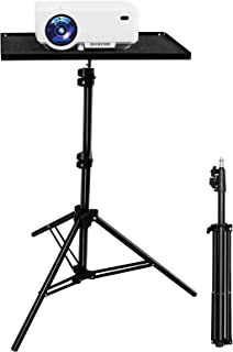 """HOMPOW Projector Tripod Stand, Portable Laptop Projector Stand, 24.8"""" to 61.8"""" Adjustable Universal Multi-function Stand with Plate (Black)-- Perfect for Stage or Studio Use-Computer, DJ Equipment"""