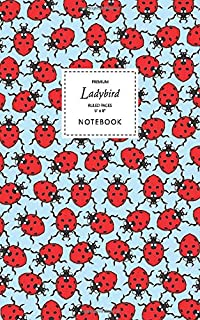 Ladybird Notebook - Ruled Pages - 5x8 - Premium: (Sky Blue Edition) Fun notebook 96 ruled/lined pages (5x8 inches / 12.7x2...