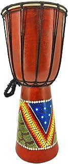 70 cm 60 cm 50 cm 40 cm Djembe tambor Bongo de África de pintura de 2