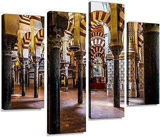 YKing1 Moorish Style Arches Within The mezuita in Cordoba Spain Old Stone Wall Art..