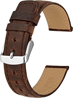 Anbeer 18mm 20mm 22mm Watch Band, Premium Retro Leather Strap Compatible with Watches Smartwatch