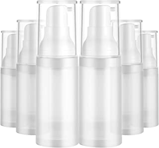 Medicook 6pcs 20ml Sterile Airless Pump Bottle Matte Lotion Bottles Easy to Carry For Travel