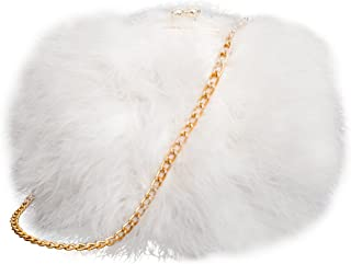 Best white feather clutch bag Reviews