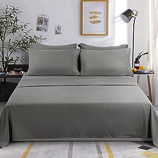 KARRISM King Size 6 Piece Bed Sheets Set Extra Soft & Breathable Brushed 1800 Series Microfiber, Wrinkle & Fade Resistant, Comfortable Deep Pocket Bedding Set, Gray