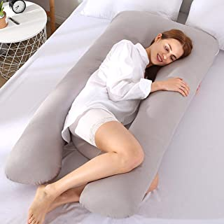 Goolfly Pregnancy Pillow U Shaped Maternity Pillow with Washable Cotton Cover for Side Sleeping and Back Pain Relief
