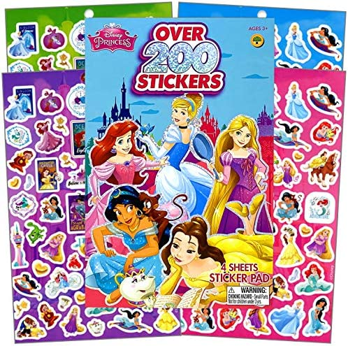 Disney Princess Series Sticker Book Over 200 Perfect for Gifts Party Favor Goodies Reward Scrapbooking product image