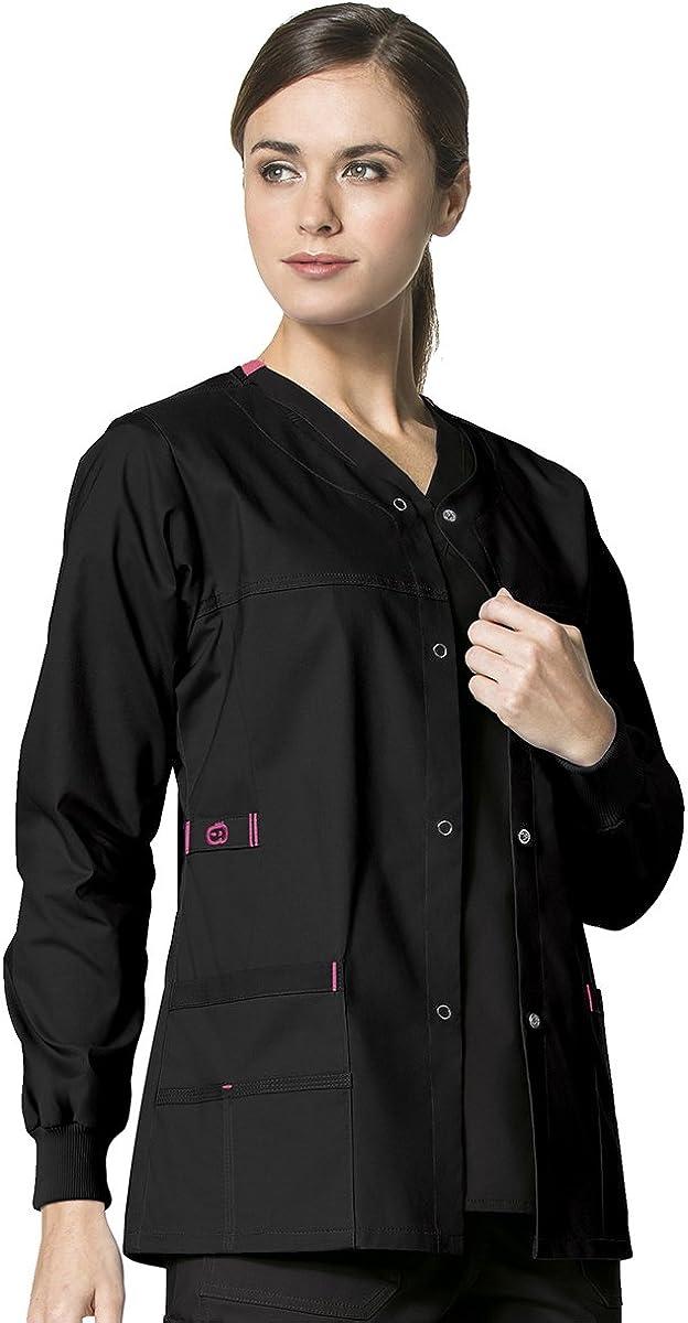 WonderWink Women's Wonderflex Constance Scrub Jacket: Clothing