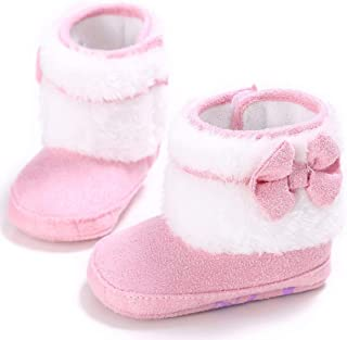 Cute Winter Newborn Baby Shoes Soft and Comfortable Tassel Girls Boots Warm First Walker Anti-Slip Toddler Boots