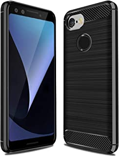Google Pixel 3 Case,Pixel 3 Case, Sucnakp TPU Shock Absorption Technology Raised Bezels Protective Case Cover for Google Pixel 3 Case (TPU Black)