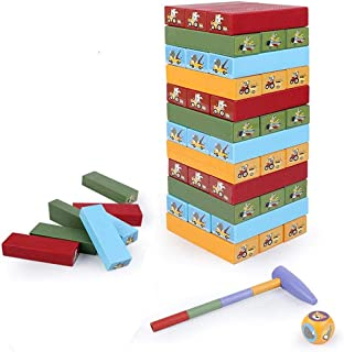 Wooden Tumble Tower Game for Kids,Family Board Game for Girls Boys Age 3-9 Years Old - Educational Toy That Develops Child...