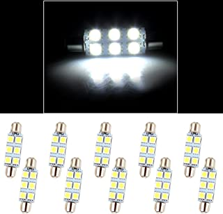 cciyu 44mm Festoon 6-5050-SMD Chips LED Light Bulbs Replacement fit for Interior Dome Door Map License Plate Cargo Light