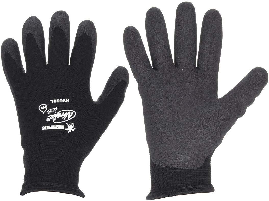 Coated Gloves, XL, Black, PR