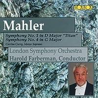 """MAHLER:Symphony No. 1 (""""Titan"""") & No. 4"""