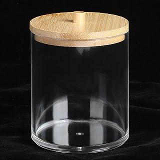 Lantro JS Porte-Cure-Dents, avec Couvercle en Bambou, Bouteilles d'épices, Pot d'épices, boîte de Rangement en Coton-Tige,...