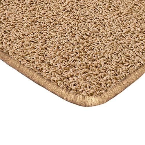 Floori Shaggy Hochflor Teppich - 100x150cm - moderner Wohnzimmerteppich - beige