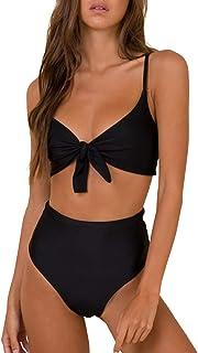 Womens High Waisted Bikini Set Tie Knot High Rise Two...