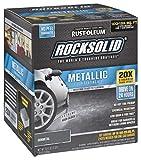 Rust-Oleum 299743 RockSolid Metallic Garage Floor Coating Kit, Gunmetal, 70 Fl. Oz