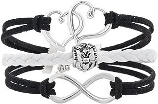 Infinity Hearts Friendship Braided Leather Wrap Wristband Bracelets