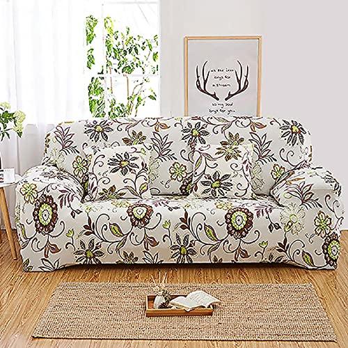 Funda Sofa 3 Plazas Fundas para Sofa Floral Rústico Americano Fundas de Sofa Elasticas Fundas para Sofá Ajustables Estampada Cubre Sofa con 1 Funda de Cojín