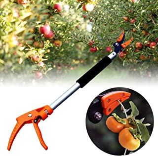 zapture 23.62 Inch Long Reach Pruner, Cut and Hold Tree Pruner, Long Reach Fruit Picker, Branches Bypass Lopper Tree Trimming