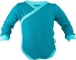 divata Langarm Wickelbody - Baby Body mit Druckknöpfen | 100% Baumwolle