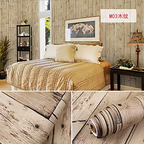 Los paneles de pared 3D Wall Stickers Murales Madera PVC Decoración Muebles abrigo del vinilo de pared impermeable etiqueta auto-adhesivo del papel pintado de la cocina Escritorio puerta de la películ