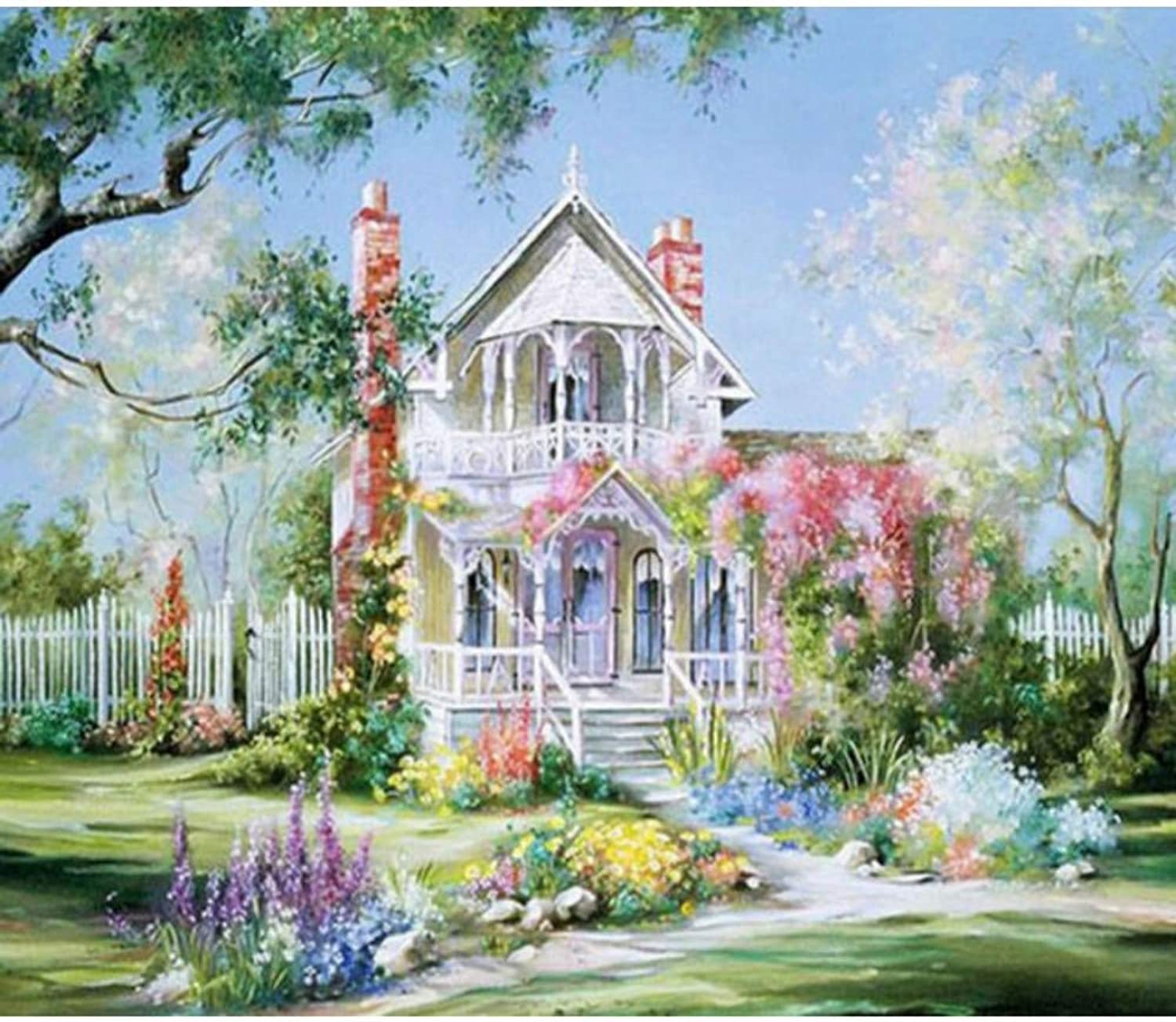 c4c71cb5e0e49 5d DIY Diamond Painting Landscape Villa Embroidery with Beads ...