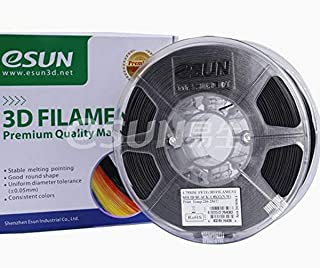 eSun 1.75 mm 1kg PETG 3D Filament, Solid Black, One Size (FIL0125)
