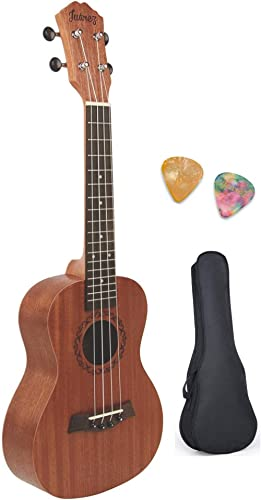 "Juarez JRZ23UK/NA 23"" Concert Size Ukulele Kit, AQUILA Strings, Sapele Body, Rosewood Fingerboard, Matte Finish, with..."