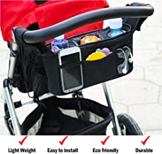 Universal Fit Baby Stroller Organizer – Lightweight Universal Stroller Organizer for Smart Moms   Stroller Bag with Two Insulated Cup Holders & Lots of Storage for All Your Baby Accessories