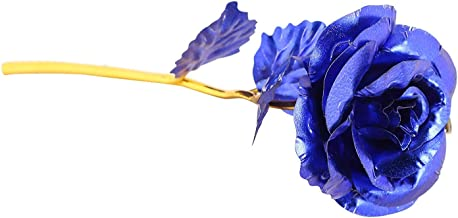 MSA JEWELS Combo of 24K Blue Rose Flowers in Gift Box