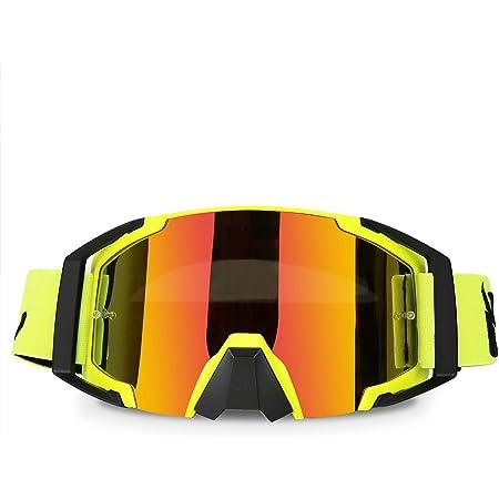 Motocross Goggles Dirtbike ATV Motorcycle Anti-UV Motorbike Ski Goggles Anti-Slip Strap Nose Cover Fit Glasses & Helmet