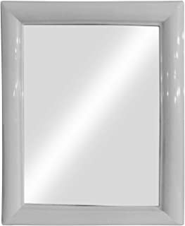 Confidence Designer Big Wall Mirror With Attractive Frame For Bathroom (White)