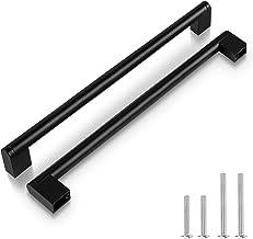 (50 Pack) Zwarte keuken, 10 Inch (256 mm) Hole Center Badkamer Kabinet Hardware, Vierkante Boss Bar RVS Lade Handvatten Mo...
