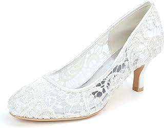 Dentelle Mariage Chaussures Formal Bridal bridemaid plat haute basse Chaton Talons