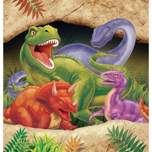16servilletas de papel con dibujos de dinosaurios, tamaño 33x 33cm, para cumpleaños infantiles, 665012