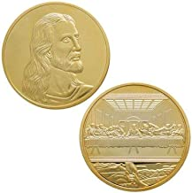 Jesus, Last Supper by Da Vinci Gold Coin Deluxe Challange Coin