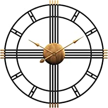 """Aero Snail 20"""" Metal Wall Clock Decorative Round 3D Hollow Non-Ticking Silent Roman Numeral Office Home Hanging Clocks"""