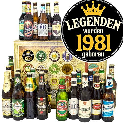 Legenden 1981 / Bier aus der Welt und D 24x / Geschenk für Mann zum Geburtstag/Adventskalender Bier Männer