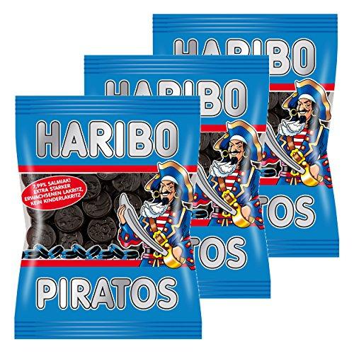 Haribo Piratos, 3er Pack, Lakrtitz, Lakrtitze Süßigkeit, Nascherei, Im Beutel, Tüte